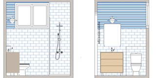 Proyecto de reforma de baño en Donostia / San Sebastián: Baños de estilo escandinavo de Apal Estudio
