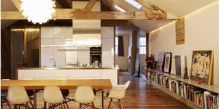 Comedores de estilo moderno de Henning Stummel Architects Ltd