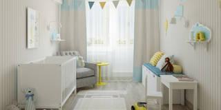 Dormitorios infantiles de estilo escandinavo de Olesya Parkhomenko