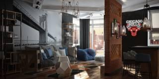 Гостиная-кухня: Гостиная в . Автор – De Steil