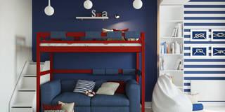 Комната для подростка в морском стиле: Детские комнаты в . Автор – Оксана Мухина