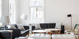 Livings de estilo escandinavo por K-Studio