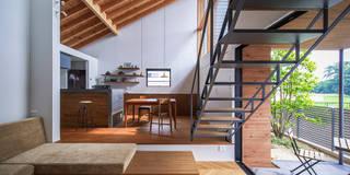 eclectic Living room by nobuyoshi hayashi