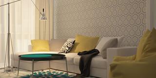 Projekty,  Salon zaprojektowane przez CO:interior