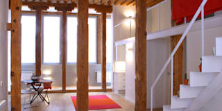 Rehabilitación de edificio ATOCHA. Madrid: Salones de estilo moderno de Beriot, Bernardini arquitectos