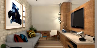 industrial Living room by Konverto Interiores + Arquitetura
