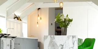 The Marble Kitchen: modern Kitchen by Papilio