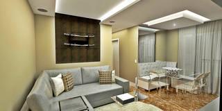 eclectic Living room by Atelier Par Deux