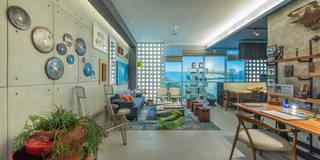 Estudios y despachos de estilo industrial por Emmilia Cardoso Designers Associados