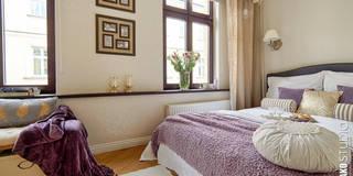 Pomiędzy Paryżem a Nowym Jorkiem : styl , w kategorii Sypialnia zaprojektowany przez DreamHouse.info.pl