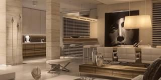 LIMBA NOIR: styl , w kategorii Jadalnia zaprojektowany przez Ludwinowska Studio Architektury