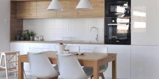 Realizacja - Mieszkanie 50m2,Kraków: styl , w kategorii Jadalnia zaprojektowany przez Architekt wnętrz Klaudia Pniak