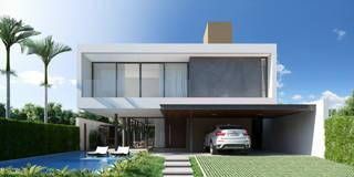 Casa C - Cena 01: Casas minimalistas por Martins Lucena Arquitetura