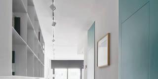 scandinavian Corridor, hallway & stairs by BONBA studio