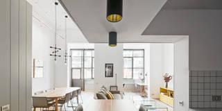 scandinavian Living room by BONBA studio