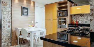cozinha:   por Cintia Sauner Arquitetura e interiores