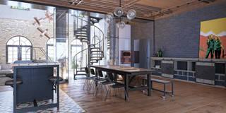 Salon de style de style Industriel par MARTINarchitects