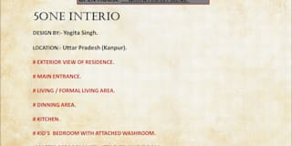 MODERN STYLE HOME AT KANPUR: modern Houses by Five One Interio