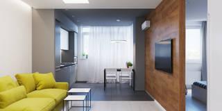 Квартира для аренды. Современный вариант: Гостиная в . Автор – Оксана Мухина