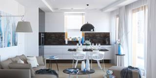 BLISKO NIEBA: styl , w kategorii Kuchnia zaprojektowany przez Ludwinowska Studio Architektury