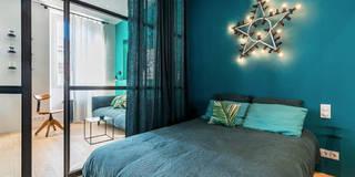 Blue Velvet: Chambre de style de style Industriel par Insides
