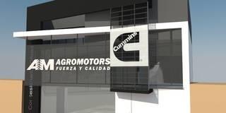 Local Comercial y Departamento: Galerías y espacios comerciales de estilo  por Arq. Jose F. Correa Correa
