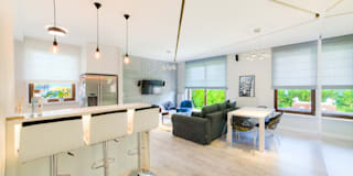 modern Living room by Auraprojekt