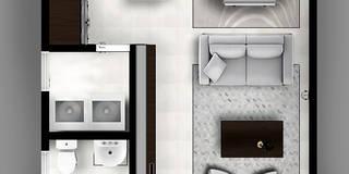 modern Corridor, hallway & stairs by CDR CONSTRUCTORA