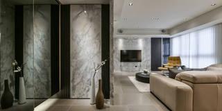 Tranquil 靜謐:  玄關、走廊與階梯 by CJ INTERIOR 長景國際設計