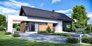 Projekt domu HomeKONCEPT-44: styl nowoczesne, w kategorii Domy zaprojektowany przez HomeKONCEPT | Projekty Domów Nowoczesnych