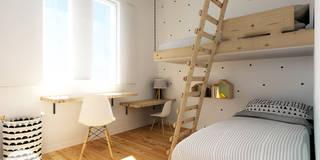 Dormitorios infantiles de estilo escandinavo de Homestories
