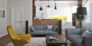 Salones de estilo moderno de Olesya Parkhomenko