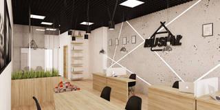 Projekt biura nieruchomości: styl , w kategorii Domowe biuro i gabinet zaprojektowany przez Ale design Grzegorz Grzywacz