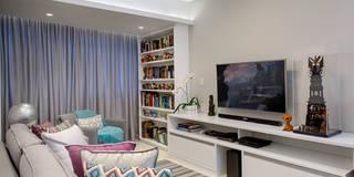 Salas de estar modernas por Milla Holtz Arquitetura
