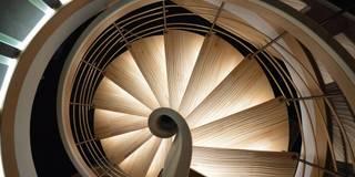 Pasillos, vestíbulos y escaleras de estilo asiático de ASCENSO