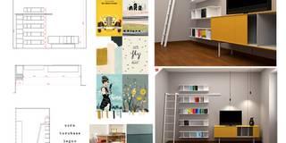 soggiorno GS: Soggiorno in stile in stile Moderno di OGARREDO