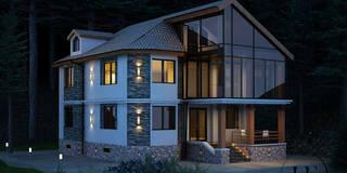 Проект коттеджа в Скандинавском стиле: Дома в . Автор – IvE interior