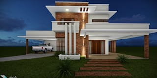 Casas de estilo moderno por Aidê Arquitetura