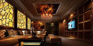 CNC Carving Faux Alabaster in China: asian Living room by ShellShock Designs