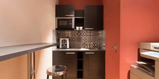 Relooking Flashabitat agence Immobilière 50m2: Locaux commerciaux & Magasins de style  par Catherine Plumet Interiors