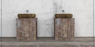 Wanny z kamienia i umywalki z kamienia z Indonezji: styl , w kategorii  zaprojektowany przez Lux4home™