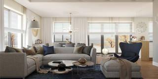 RIFLESSO: styl , w kategorii Salon zaprojektowany przez Ludwinowska Studio Architektury