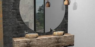 Umywalki kamienne: styl , w kategorii  zaprojektowany przez Lux4home™