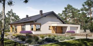 Projekt domu Daniel III G2  - harmonia nowoczesności i przytulności : styl nowoczesne, w kategorii Domy zaprojektowany przez Pracownia Projektowa ARCHIPELAG
