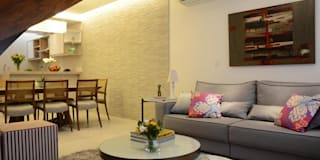Residência ABP: Salas de estar modernas por Tania Bertolucci  de Souza  |  Arquitetos Associados
