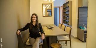 rustic Dining room by Camarina Studio