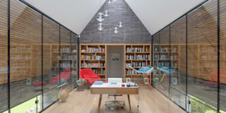 Water End House : modern Study/office by IQ Glass UK