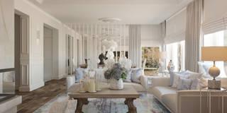 BLUE: styl , w kategorii Salon zaprojektowany przez Ludwinowska Studio Architektury