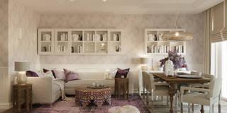 LILAC: styl , w kategorii Salon zaprojektowany przez Ludwinowska Studio Architektury
