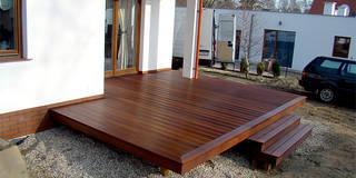 Taras drewniany. Realizacja w Nowym Kisielinie: styl , w kategorii  zaprojektowany przez PHU Bortnowski
